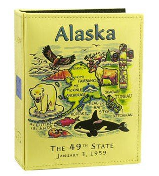 Alaska Map Embossed Photo Album 100 Photos / 4x6