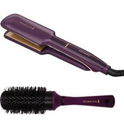"Bonus Brush Bundle! Remington Thermaluxe Ceramic Hair Straightener Flat Iron, 2"" Wide, S9130"