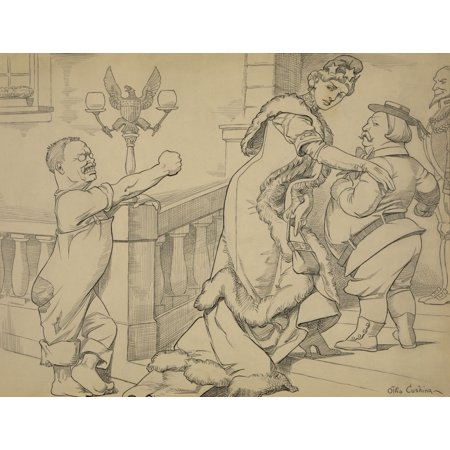 1912 Presidential Election Cartoon By Otto Cushing