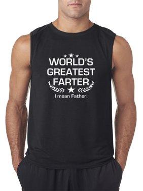Trendy USA 1121 - Men's Sleeveless World's Greatest Farter I Mean Father 2XL Black