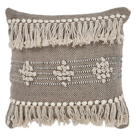 LR Home Zanthia Tribal Indoor Throw Pillow Black Natural 20