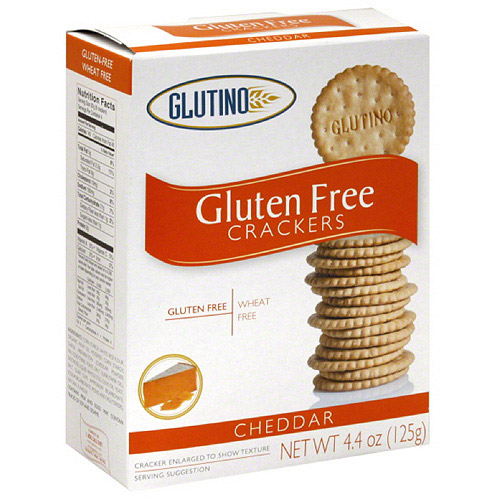 Glutino Cheddar Crackers, 4.4 oz, (Pack of 6)