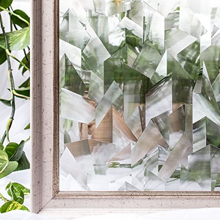 Window Film 3D Ecology Non Toxic Static Decoration For UV Rejection Heat Control Energy Saving Privacy Glass Stickers,35.4x78.7 - Office Window Decorations