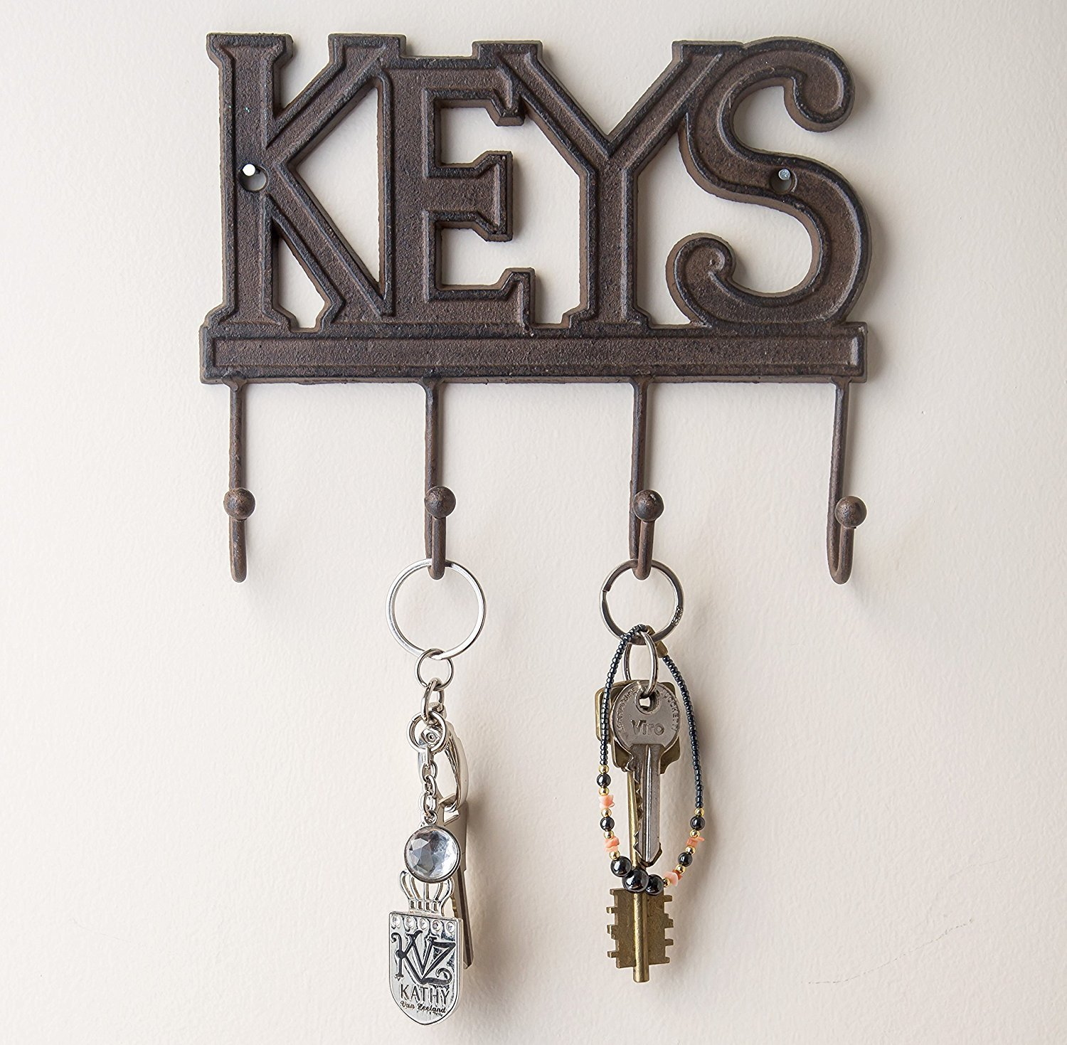 Key Holder   Keys   Wall Mounted Key Hook   Rustic Western Cast Iron Key  Hanger   Decorative Key Organizer Rack With 4 Hooks   With Screws And  Anchors   6x8 ...