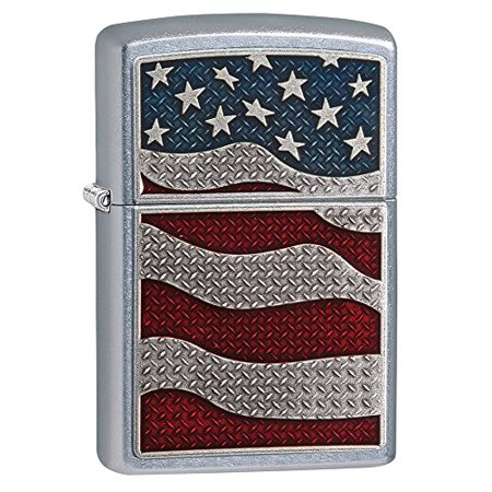Zippo Brushed Chrome Timberwolves Emblem (Zippo 29513 Streat Chrome, Emblem Attached 207 Diamond Plate Flag )