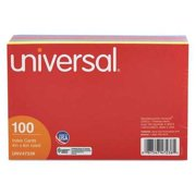 UNIVERSAL Index Cards,Ruled,4 x 6In.PK100 UNV47236