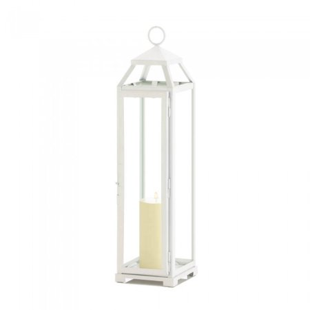 TALL COUNTRY WHITE OPEN TOP (Country Rust Lanterns)