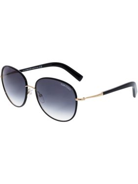 a72299b792782 Product Image Tom Ford Women s Gradient Georgia FT0498-01B-59 Black Oval  Sunglasses