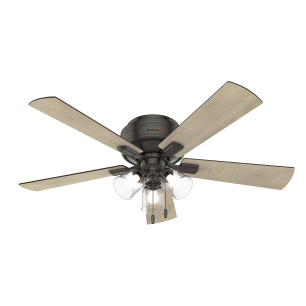 Hunter 52 Crestfield Noble Bronze Ceiling Fan With Light Kit And Pull Chain Walmart Com Walmart Com