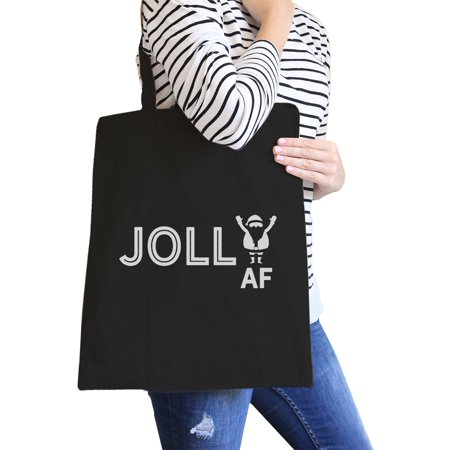 Jolly Af Funny Design Canvas Tote Bag Christmas Gag Gifts For Teens](Christmas Tote Bags)