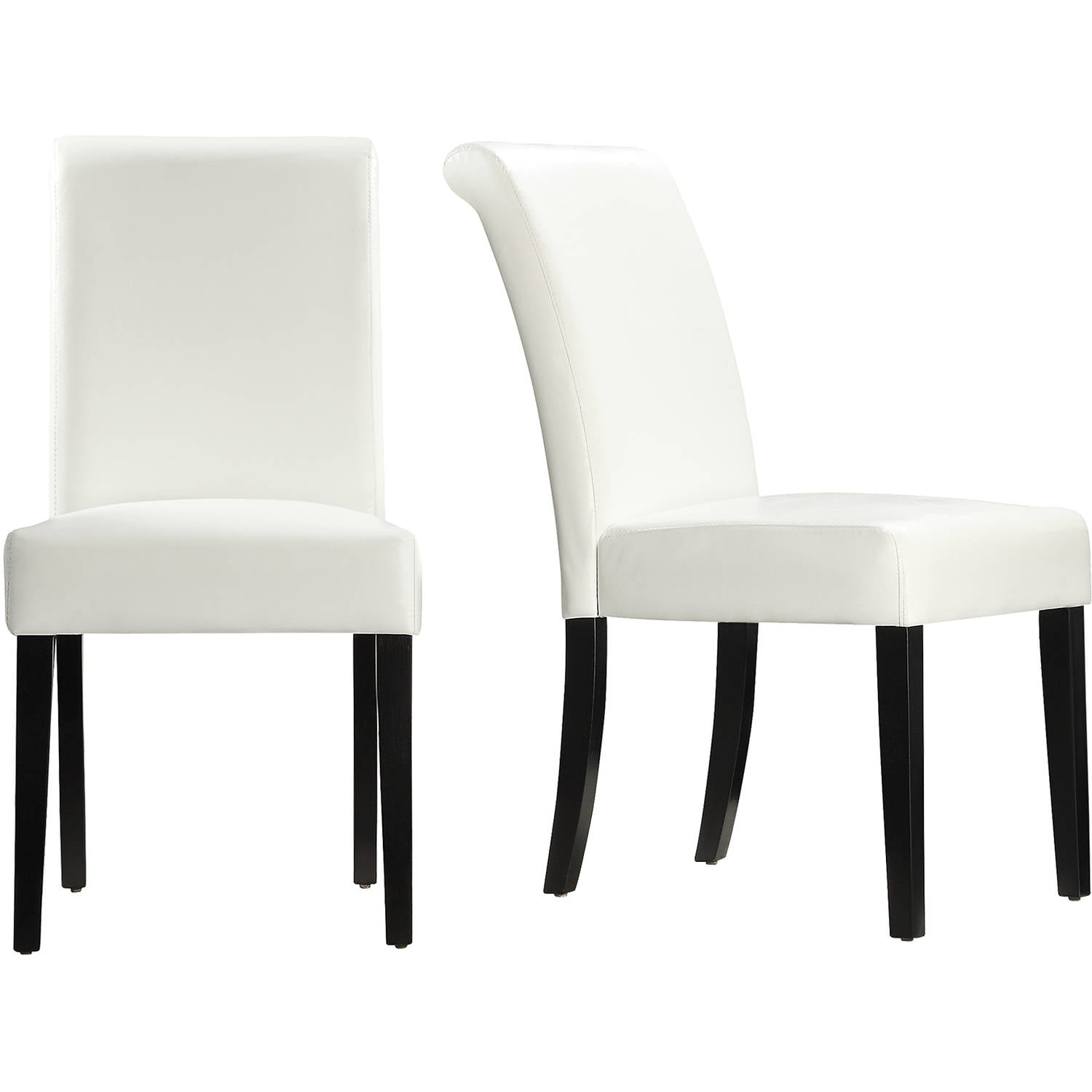 Lexington Faux Leather Cushioned Parson, White Parsons Chairs Dining Room