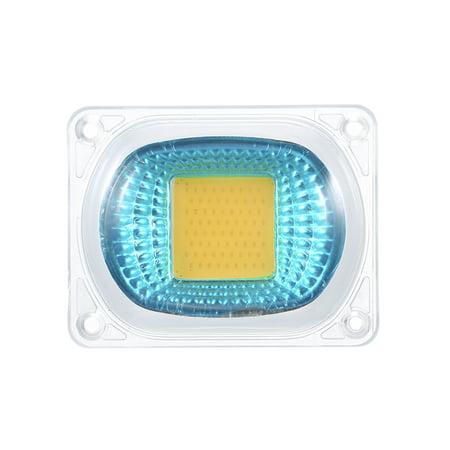 AC220V 50W Warm White High Power 60*40mm COB LED Light Chip with Lens Integration Lamp Kit Set for Flood Project Portable Light Aquarium Fish Tank ()