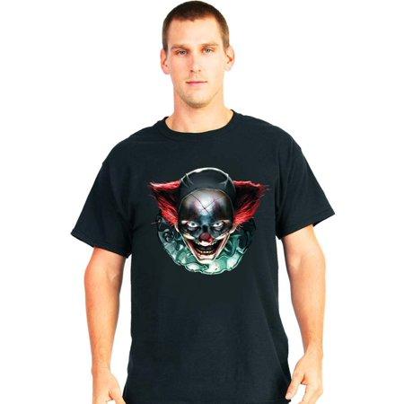 Digital Dudz Black Freaky It Clown Eyes Adult Costume T-Shirt X-Large (Freaky Clown Costume)