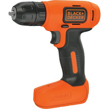 - BLACK+DECKER 8-Volt Lithium Cordless Drill With Bonus Drill Bits, BDCD8BVA