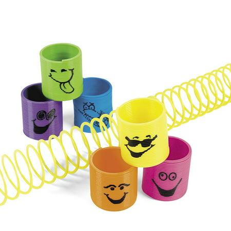 Plastic Mini Goofy Smile Face Magic Springs by Fun - Goofy Face