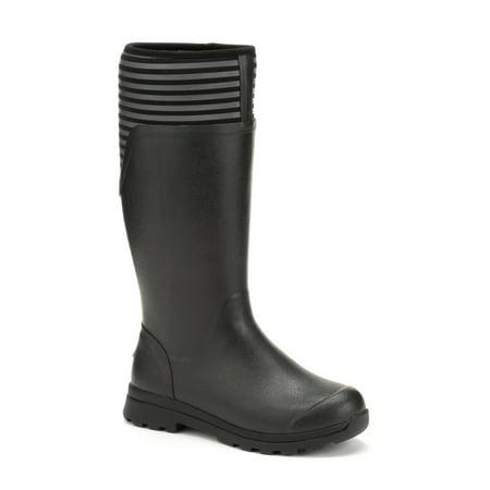 Muck Boot Women's Cambridge Tall Rain Boots Black Neoprene Rubber 5