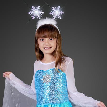 FlashingBlinkyLights Light Up Snowflakes Head Boppers Headband (Snowflake Headband)