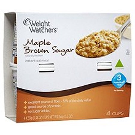 Weight Watchers Maple Brown Sugar Oatmeal 1 Package Contains 4 Separate Cup Servings 3 Smart Points