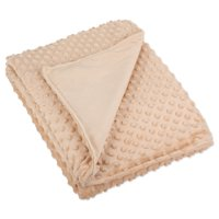 """Bucky Minky Duvet Cover for Weighted Blankets, Fits Twin Sized Bed - 41""""x60"""", Taupe"""