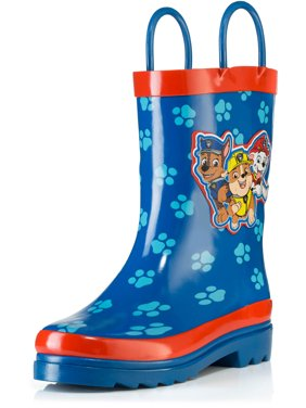 Nickelodeon Paw Patrol Boys Blue Rubber Waterproof Rain Boots - Size 13 Little Kid