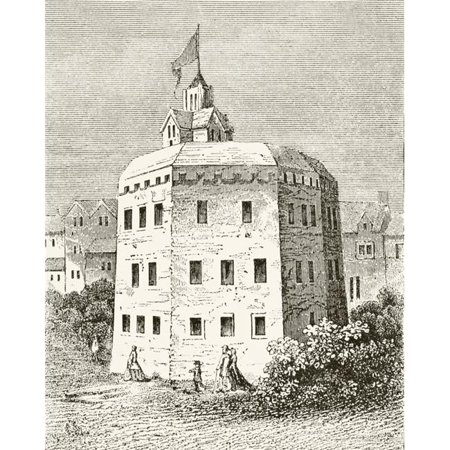 Posterazzi DPI1856253LARGE The Globe Theatre Southwark London In The 17th Century From The National & Domestic History of England by William Aubrey Poster Print, Large - 26 x 32 - image 1 de 1