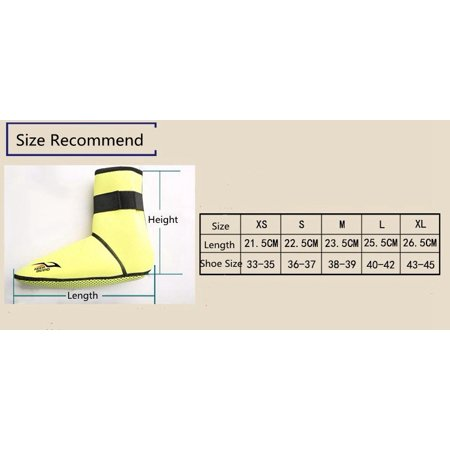 Scuba Diving Socks 3MM Neoprene Non-slip Snorkeling Boots for Men Women Color:Yellow Size:L - image 1 of 2