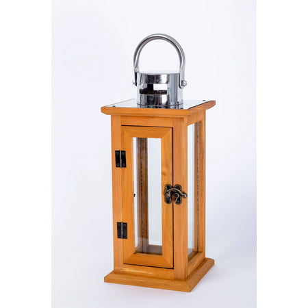 Better Homes & Gardens Prairie Grove Outdoor Wood Lantern - Large ()