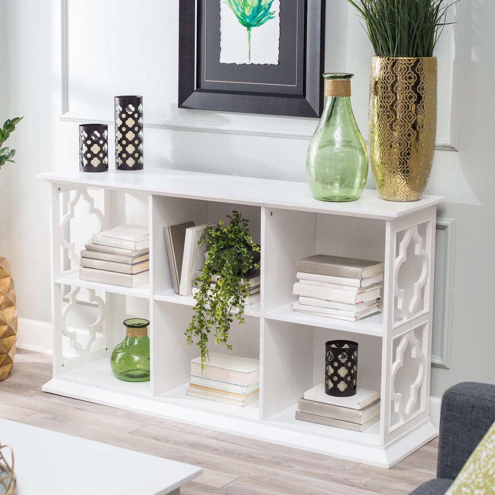 Belham Living Renata 6-Cube Quatrefoil Bookcase - Walmart.com