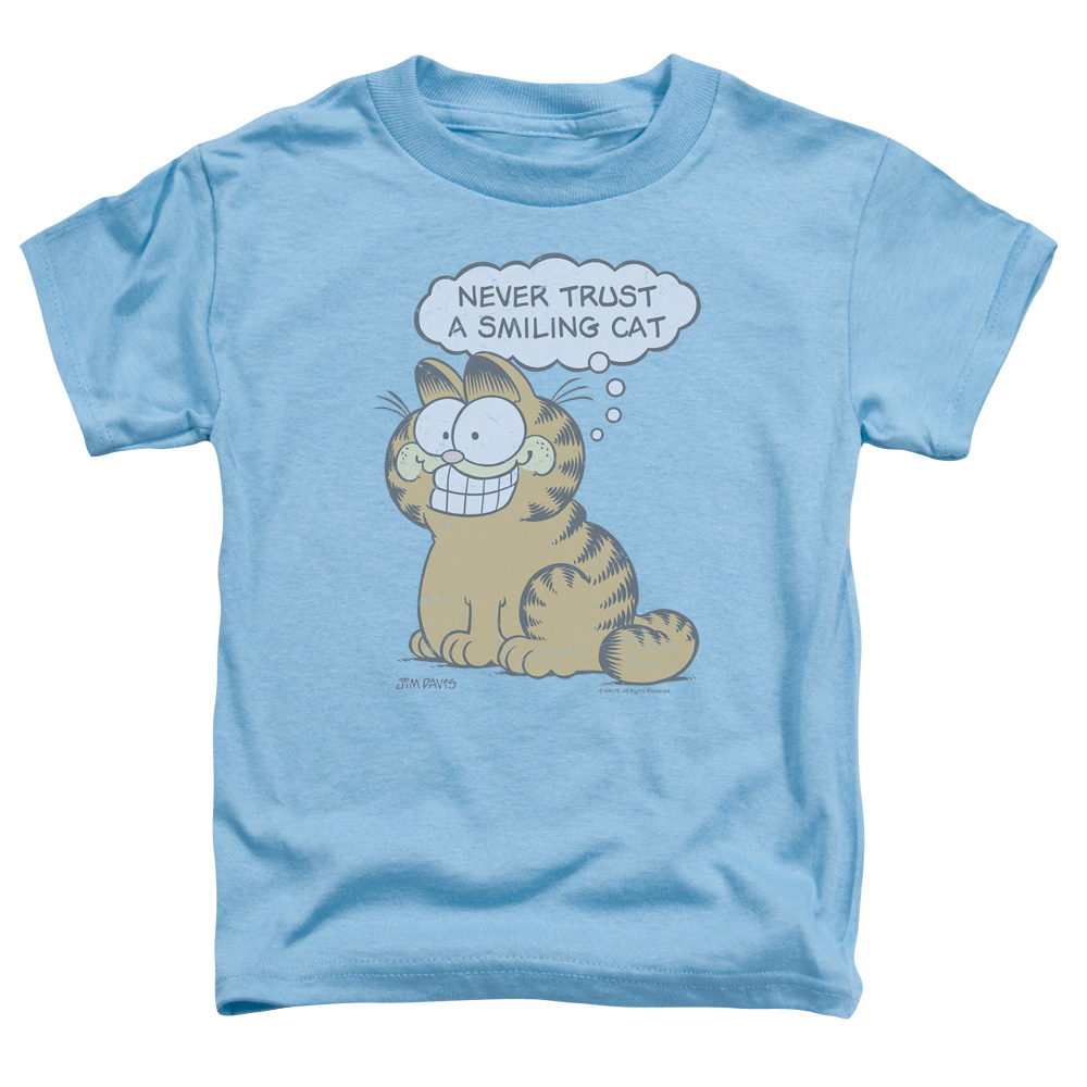 GARFIELD/SMILING CAT - S/S TODDLER TEE - CAROLINA BLUE - MD (3T)