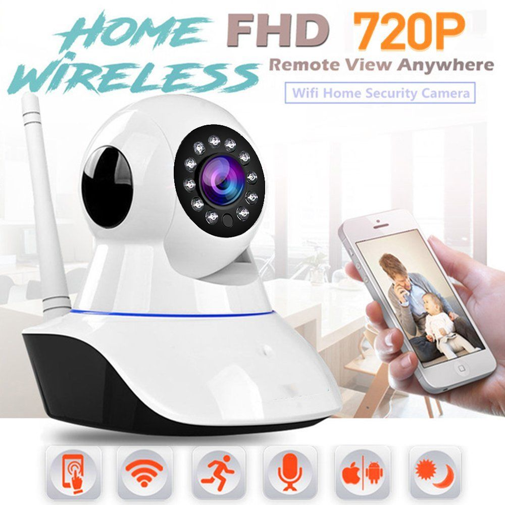 Wireless HD 720P Network Home Security IP Camera IR Night Vision WiFi Webcam App works with ipad iphone and smart devices