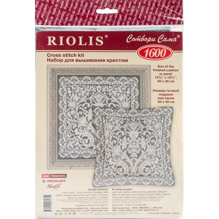 - Pannel Viennese Lace Cushion Counted Cross Stitch Kit-15.75
