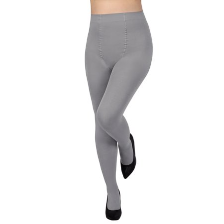 Opaque Sexy Tights Hosiery - HDE Women's Control Top Tights High Waist Pantyhose Opaque Stockings (Gray)