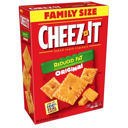 (2 Pack) Cheez-It Reduced Fat Original Baked Cheese Snack Crackers 19 oz. Box