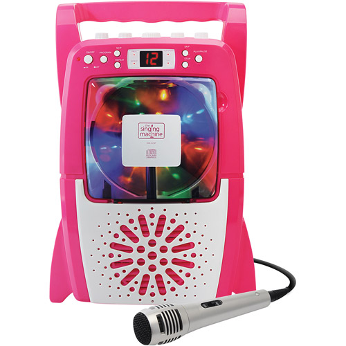 The Singing Machine SML329P Portable CD+G Karaoke Player with LightShow