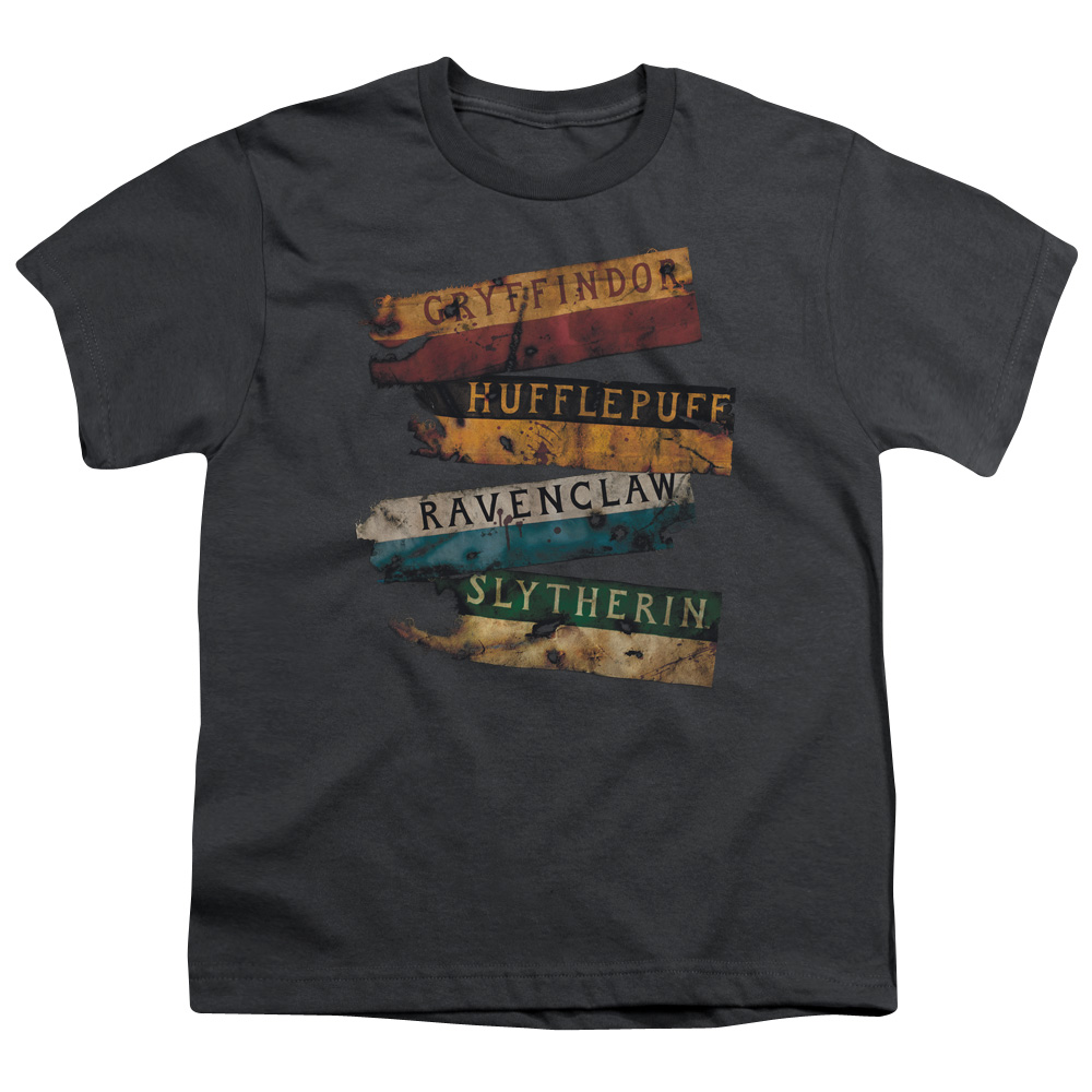 Harry Potter Burnt Banners Big Boys Youth Shirt