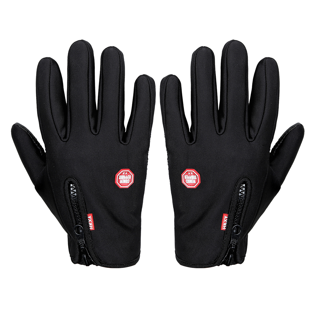 Unisex Motorcycling Touchscreen Winter Outdoor Riding Non-Waterproof Gloves by
