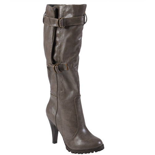 Brinley Co Women's Buckle Accent Mid-calf Boots