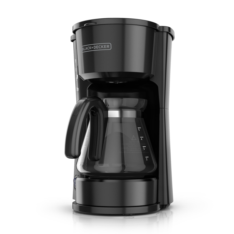 BLACK+DECKER 4-in-1 5-Cup* Coffeemaker, Black, CM0750B
