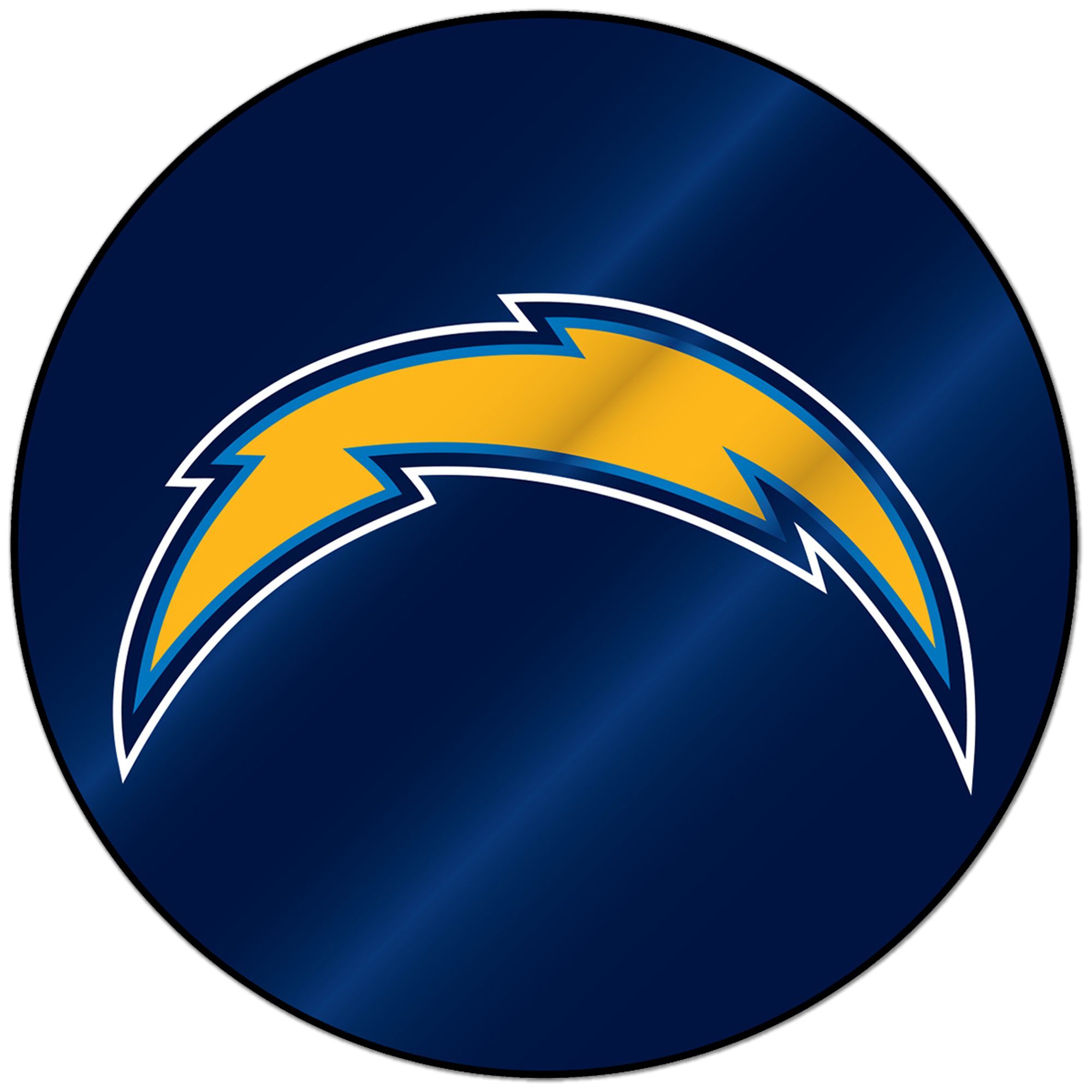 Los Angeles Chargers Sparo Laser Discus Decal - No Size