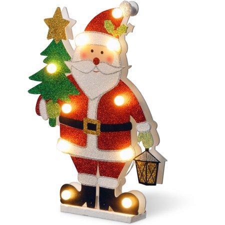 Pre Lit 17  Wooden Santa