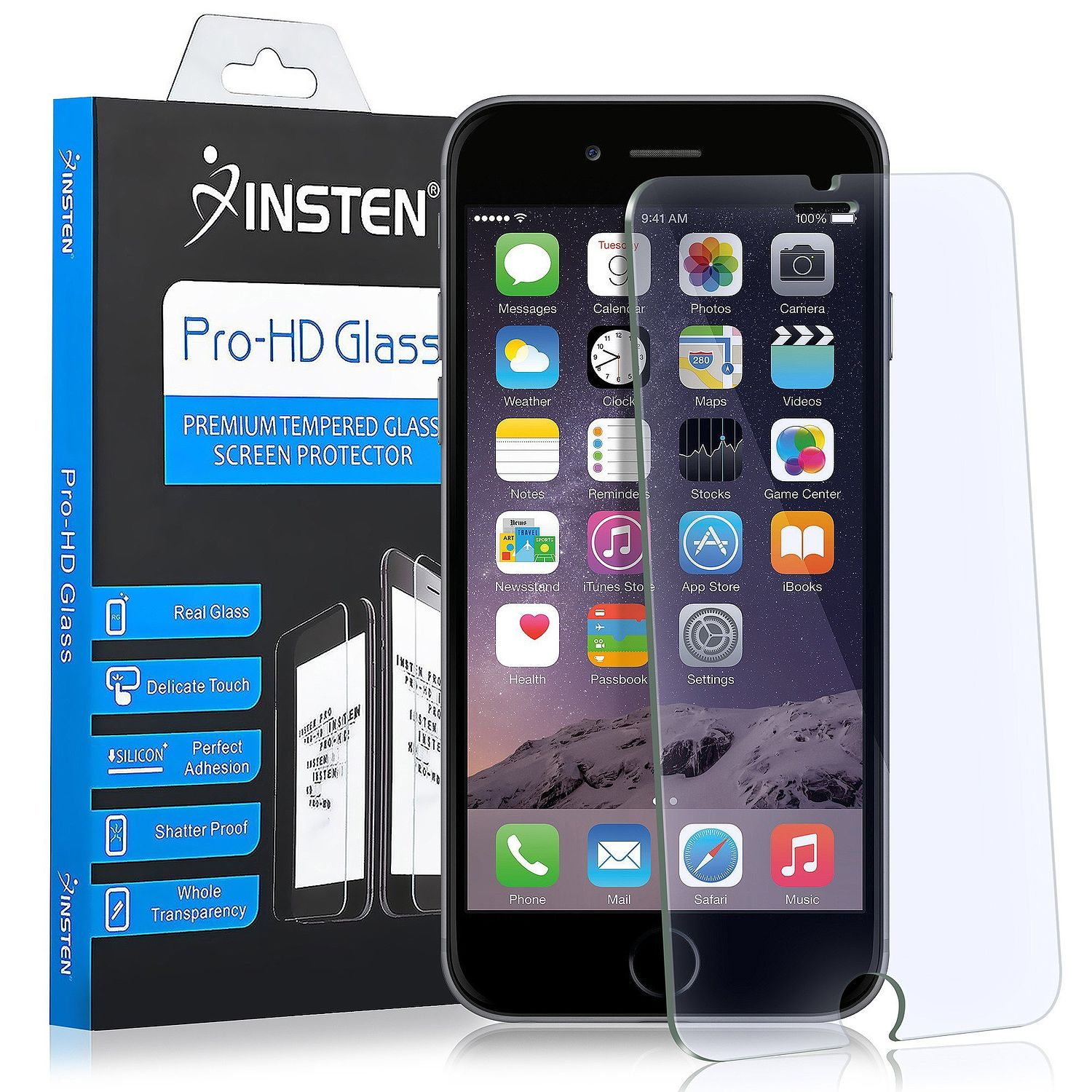 Apple iPhone 7/8 Case, by Insten Executive Protector Hard Plastic/Soft Silicone Case Cover For Apple iPhone 7/8, Black (Combo with Glass Screen Protector) - image 2 of 3