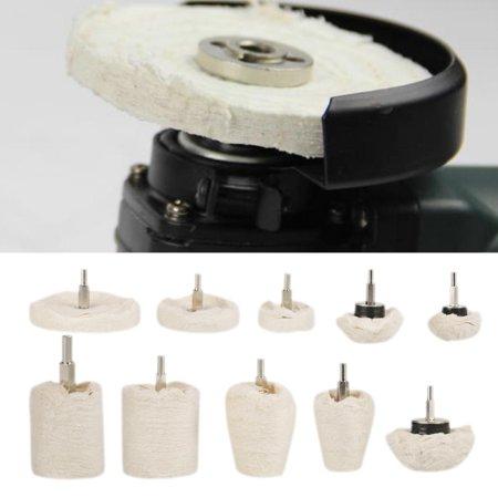 EECOO 10pcs Various Polishing Mop Buffing Wheel Pad Kit, Polishing Mop Wheel, Polisher Buffer Wheel