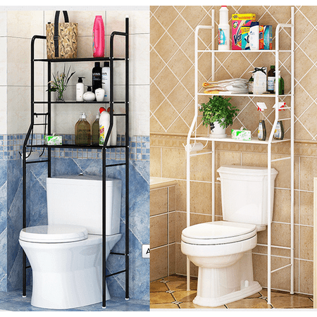 Incredible Bathroom Over Toilet Shelf 3 Tier Iron Toilet Towel Storage Rack Holder Over Bathroom Shelf Organizer Home Interior And Landscaping Ologienasavecom