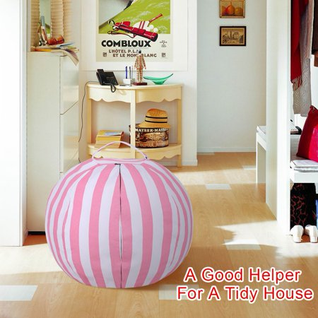 Ejoyous Kids Stuffed Animal Storage Bean Bag Chair with Extra Mental Zipper and Carrying Handle, storage bean bag - image 7 de 7