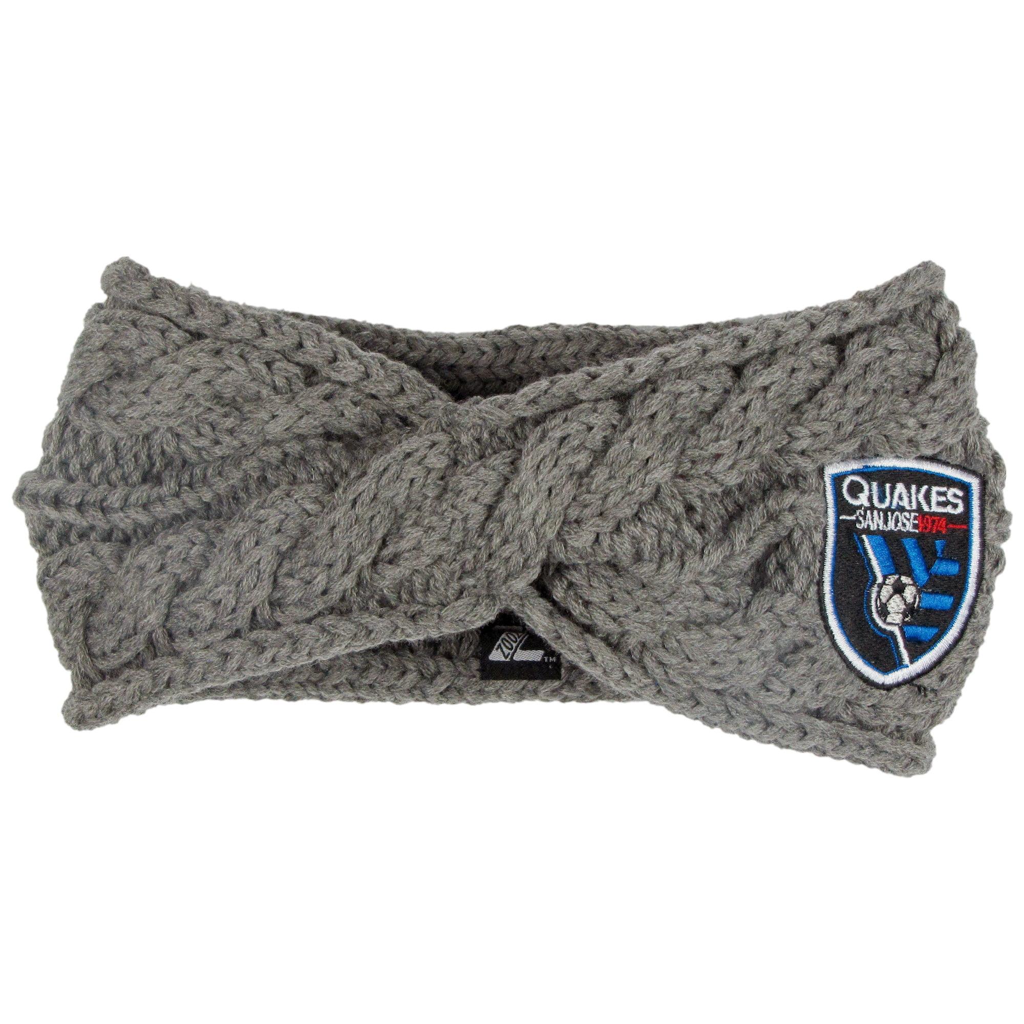 San Jose Earthquakes ZooZatz Women's Cable Headband - Charcoal - No Size