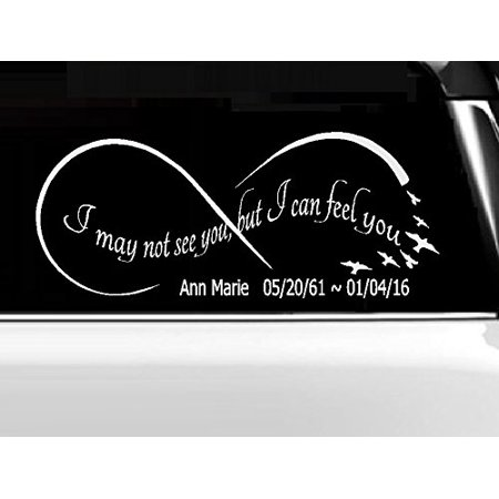 Memory of Decal : I may not see you, but I can feel you (CUSTOM) INFINITY ~ WALL, or Window Decal 6