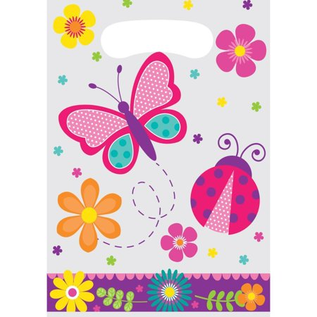 Creative Converting Butterfly Garden Favor Bags, 8 ct - Butterfly Party Favors