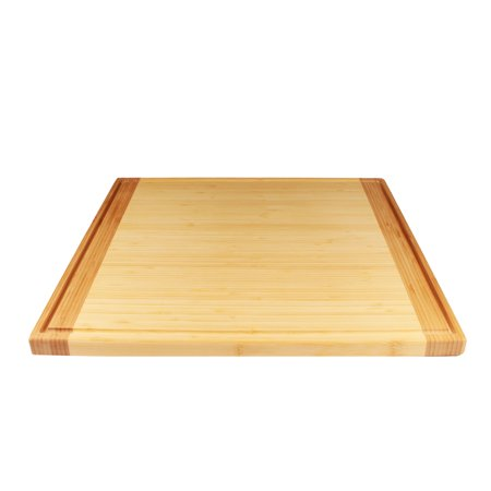 BambooMN Universal Premium Pull Out Cutting Boards - Under Counter Replacement - Designed To Fit Standard Slots - High Quality Heavy Duty Kitchen Board with Juice Groove - 20