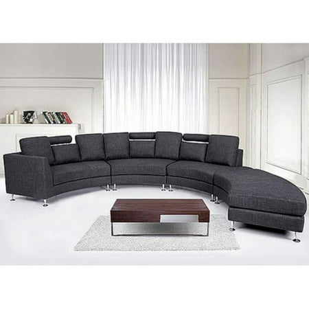 Velago Rotunde Modern Round Fabric Sectional Sofa