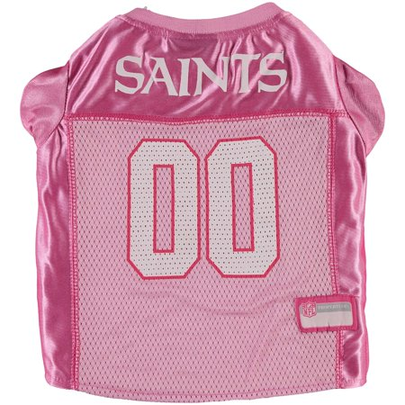 New Orleans Saints Mesh Dog Jersey - Pink